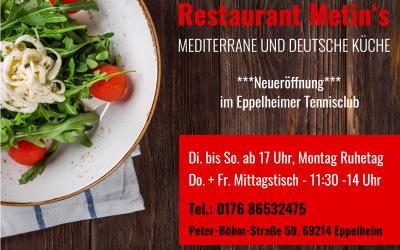 **NEU** Mittagstisch im Restaurant Metin's